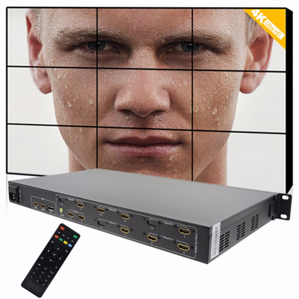 video wall monitors 3X3 for video wall screen hdmi Mobile phone signal dp input 9 TV shows output Full hd splicing video wall 4K