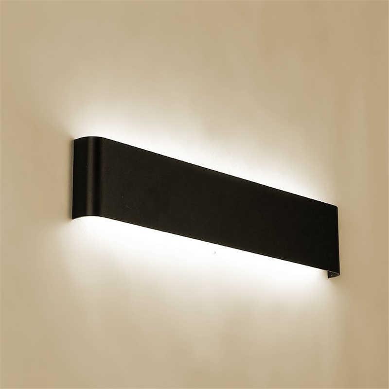 Черный/серебристый современный минималистичный светодиодный алюминиевый лампа прикроватная настенная лампа для ванной комнаты зеркало свет прямой креативный проходу