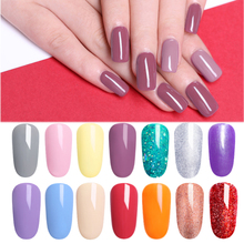 LILYCUTE Pale Mauve Color Gel UV Polish Long Lasting Pure Nail Soak Off Art Varnish Manicure For Nails Design