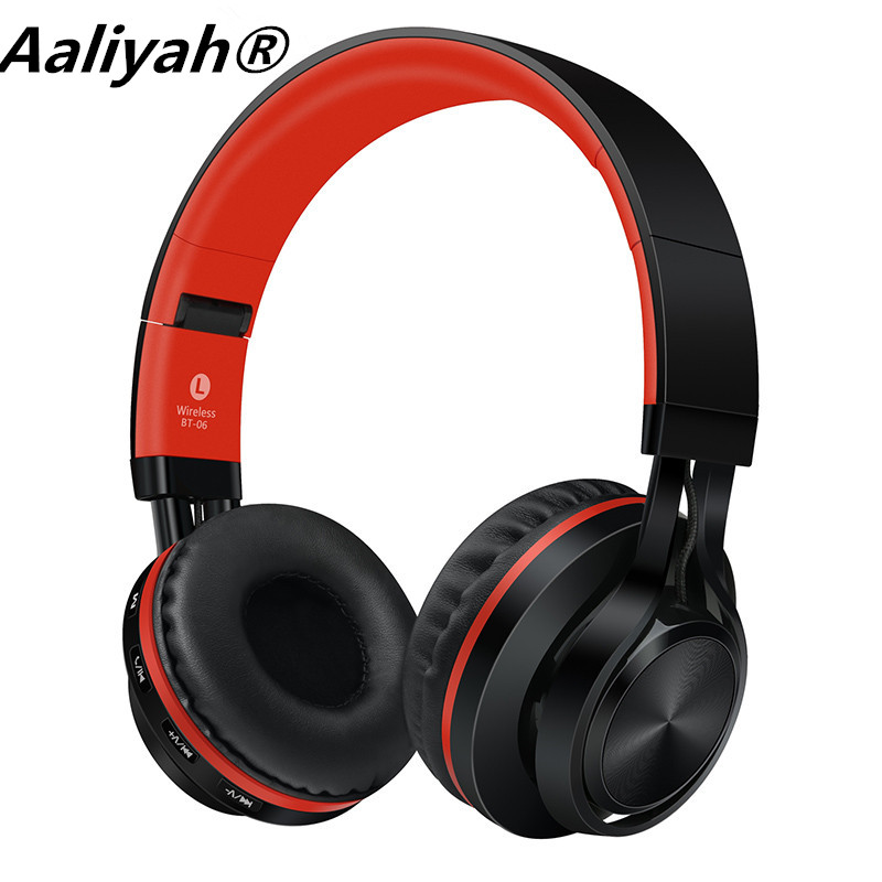 ФОТО Aaliyah BT-06 Stereo Bluetooth Wireless Headphone Headset with Microphone Mp3 Memory Card for iPhone 6/6s Android Samsung