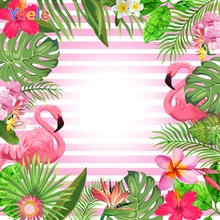 Yeele Flamingo Flowers Leave Stripe Glitters Pattern Scene Baby Photography Background Photographic Backdrop For Photo Studio