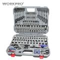 Conjunto de herramientas de PC de WORKPRO 164, juego de herramientas de reparación de automóviles, juego de herramientas mecánicas, juego de llaves de trinquete llaves