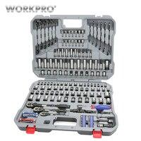 WORKPRO 164 шт. набор инструментов ручные инструменты для ремонта автомобиля набор инструментов Инструменты механик разъемы для инструментов н
