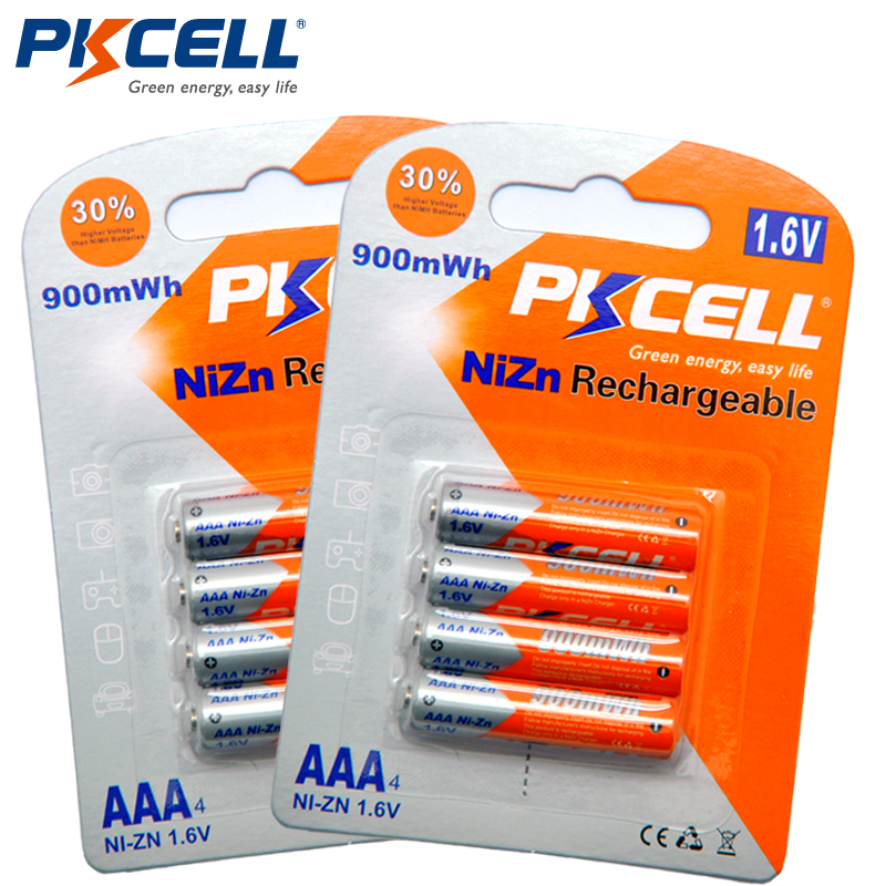 8Pcs/2card PKCELL Battery NIZN...