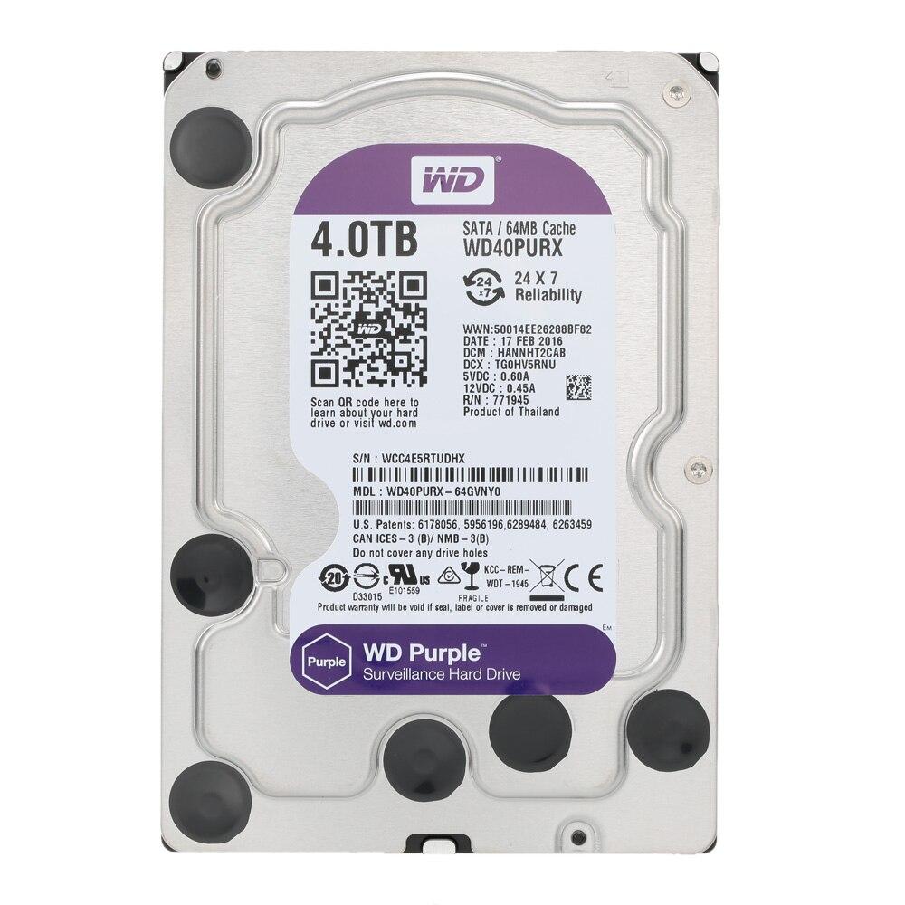 Western Digital WD Überwachung Lila 4 TB interne HDD SATA 6,0 Gb/s 3,5