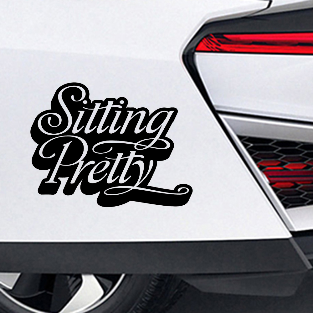 Sit Beautiful Vinyl Decal Stickers Die cut Stand To Reduce Individual Decorative Accessories in Car Stickers from Automobiles Motorcycles