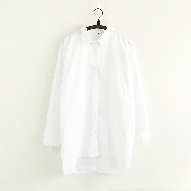 sale spring and summer blouse fashion bf 100 cotton white shirt vetement femme grande taille loose