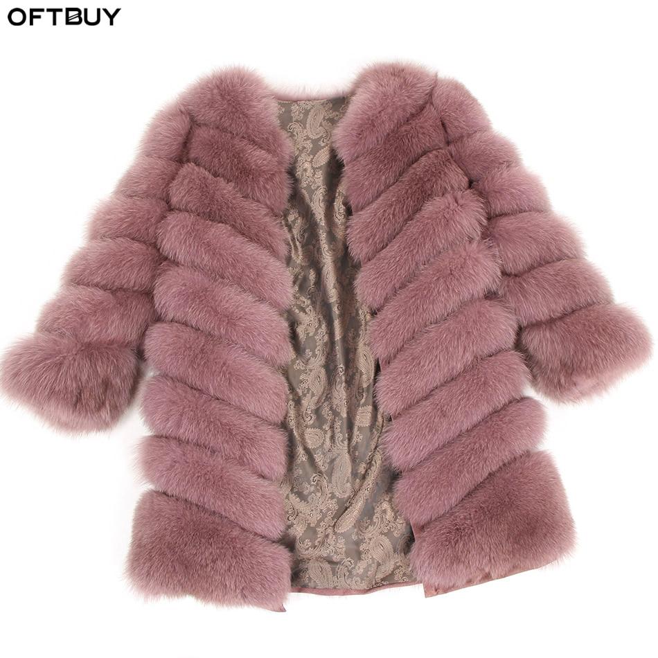 Oftcomprar 2019 abrigo de piel de zorro Real chaqueta de invierno chaleco desmontable gruesa ropa de calle caliente nueva moda Primavera-in piel real from Ropa de mujer    1