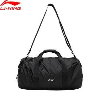 Li-Ning Training Bag Gym 500*280*290mm Nylon Polyester Foldable Travel Handbag LiNing li ning Sports Bags Daypack ABDP304 BJF148
