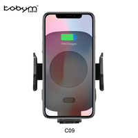 Kabym Qi Quick Car Wireless Charger Auto induction infrared Fast Air Mount Cradle for S7 S8 S9 for iPhone 8 X Type C adapter