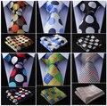 """Xadrez de Paisley 2.75 """" 100% de seda tecido fino homens Skinny Narrow gravata do laço bolso praça lenço Set # E2"""