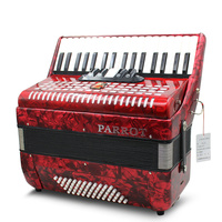 Parrot 60 blue black red Playing entertainment Accordion 34 key three row spring adult children learn professional piano