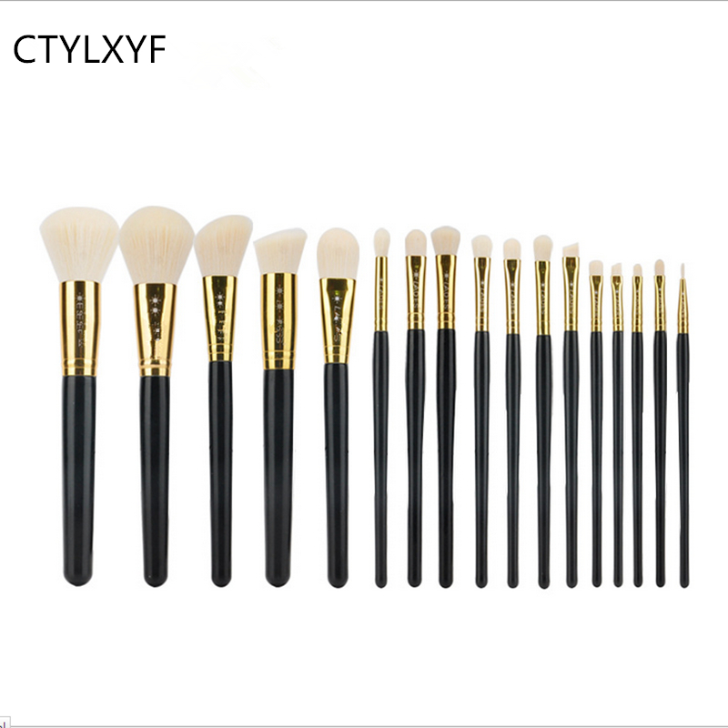 New Pro 17Pcs Cosmetic Makeup Brushes Set Bulsh Powder Foundation Eyeshadow Eyeliner Lip Make up Brush Beauty Tools Maquiagem new 32 pcs makeup brush set powder foundation eyeshadow eyeliner lip cosmetic brushes kit beauty tools fm88