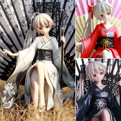 Dessin animé japonais Kasugano Sora Kimono noir/rouge/blanc figurine Sexy PVC Collection modèle jouet avec boîte 26 cm