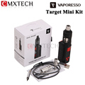 Original E cigarettes Vaporesso Target Mini Starter Kit 40W VW/VT 1400mAh Battery Hookah With 2ML Guardian Tank Atomizer