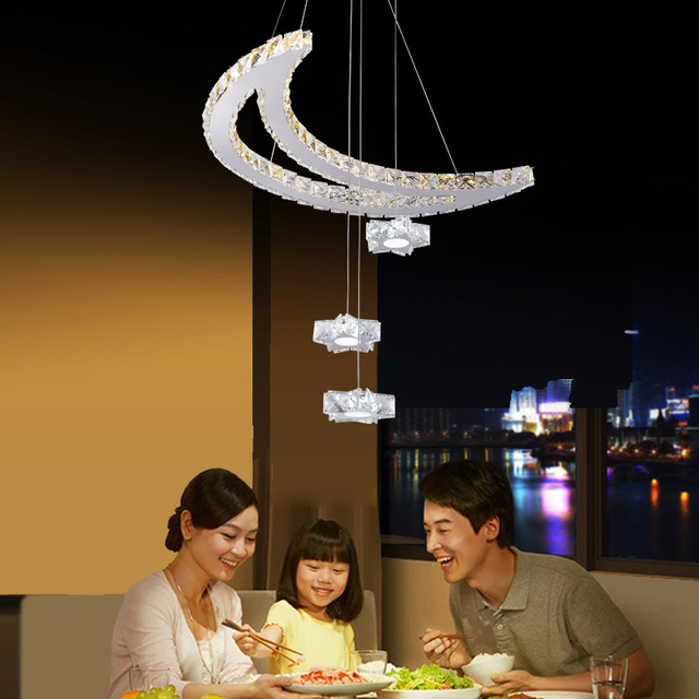led crystal chandelier lamp stars moon restaurant chandeliers bar creative personality LED art lamps
