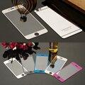 Красочный Закаленное Стекло Пленка Для iphone 4 4s 5 5s 5se 6 6 s 6 Плюс Протектор Экрана Металлическое Покрытие Зеркальная Пленка 2 ШТ. Фронт + BACK
