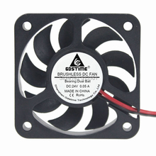 купить Gdstime DC 24V 50mm Dual Ball Bearing 50x50x12mm 5cm 2Pin Brushless Cooler Cooling Fan дешево