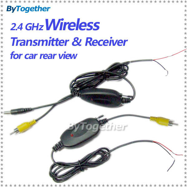 Free shipping 2 4 Ghz car Wireless Transmitter Receiver for reverse camera to dvd player monitor free shipping 2 4 ghz car wireless transmitter & receiver for  at gsmx.co
