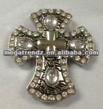 Western Rhinestone Italian Cross Concho