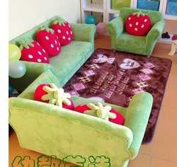 Детский диван с разрисованной ткани стул. Две. Три. Раннего образования. Комбинация диван-кровать