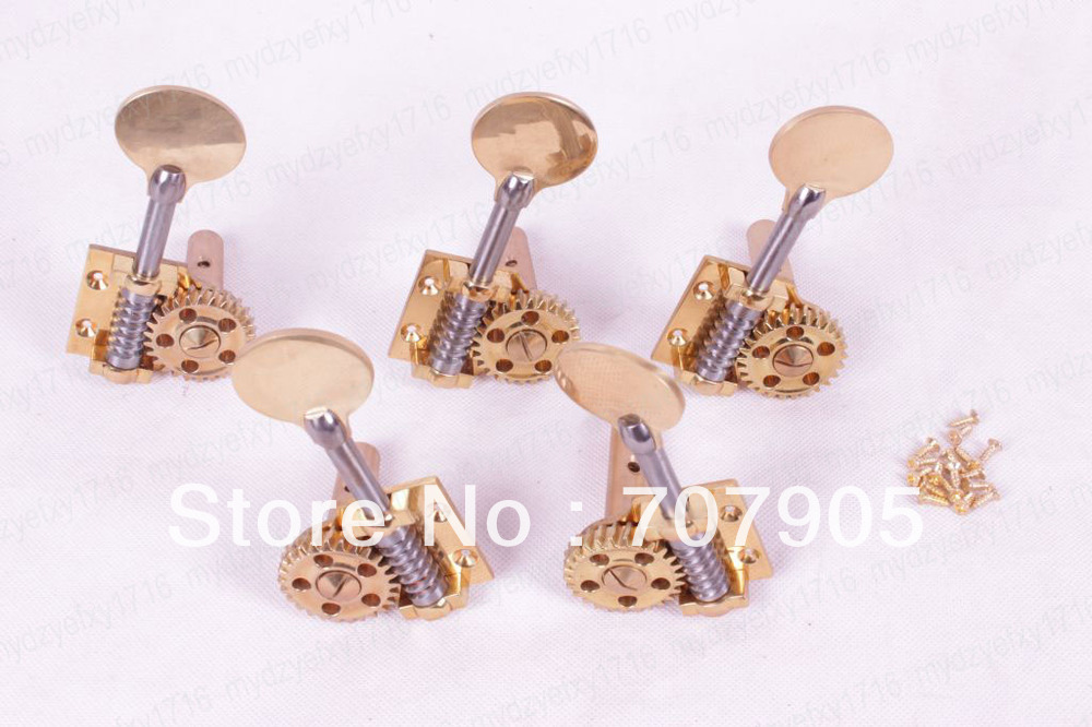 5 string 1 set peg Double bass Peg Tuner Keys Metal Body 3/4 Durable Brass parts High quality