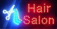 Ultra Bright hair salon store LED billboard flashing Electronic sign 25*48CM