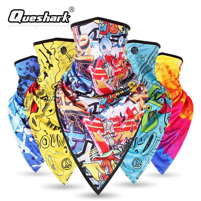 Printed Pattern Windproof Ski Face Mask Breathable Cycling Mask Sports Cold Protection Snowboard Skiing Mask Scarf