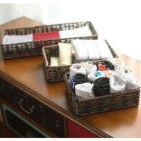 Desktop cosmetics Storage Baskets zakka waterproof box organizer for commode towels storage basket plastic panier de rangement