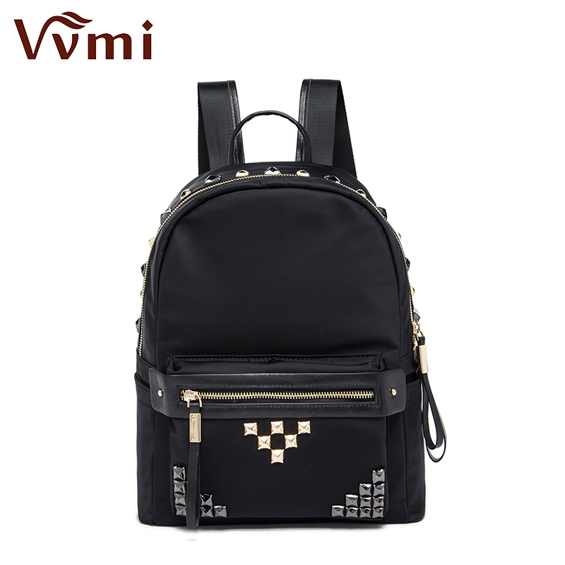 ФОТО Vvmi brand 2016 women backpack girls cool rivet backpack punk rock school bag durable big capacity new fashion 2colors available