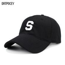 2018 New Baseball Cap 100% Cotton S Letter Embroidery Dad Hat Motion Style Fashion Unisex Hip-hop Snapback Cap Bone Garros Hats