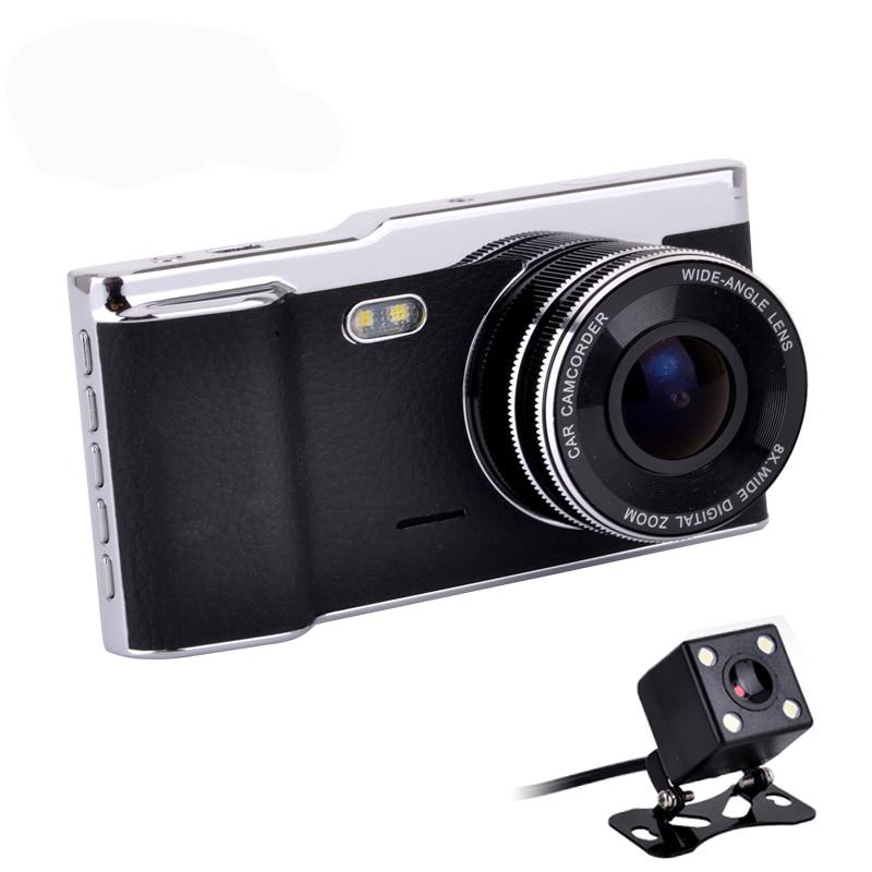 """""""Fumalon 4.0"""""""" Автомобильный видеорегистратор камеры НОВАТЭК 96650 с двумя объективами заднего вида передняя опора полный высокой четкости 1080p автомобильный видеорегистратор тире Кэм"""""""