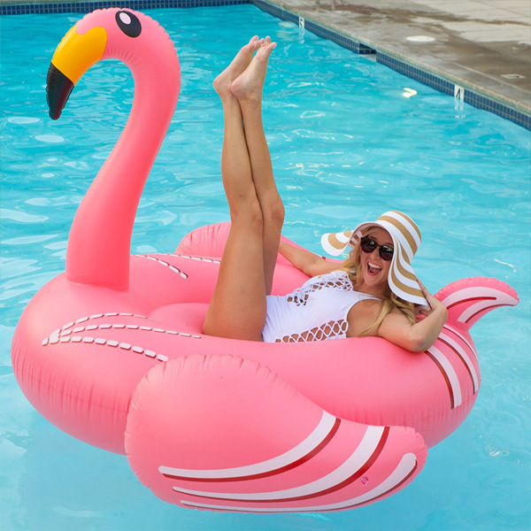 Large inflatable Flamingo White Swan inflatable water horse floating row floating bed lady swimming ring environmentally friendly pvc inflatable shell water floating row of a variety of swimming pearl shell swimming ring