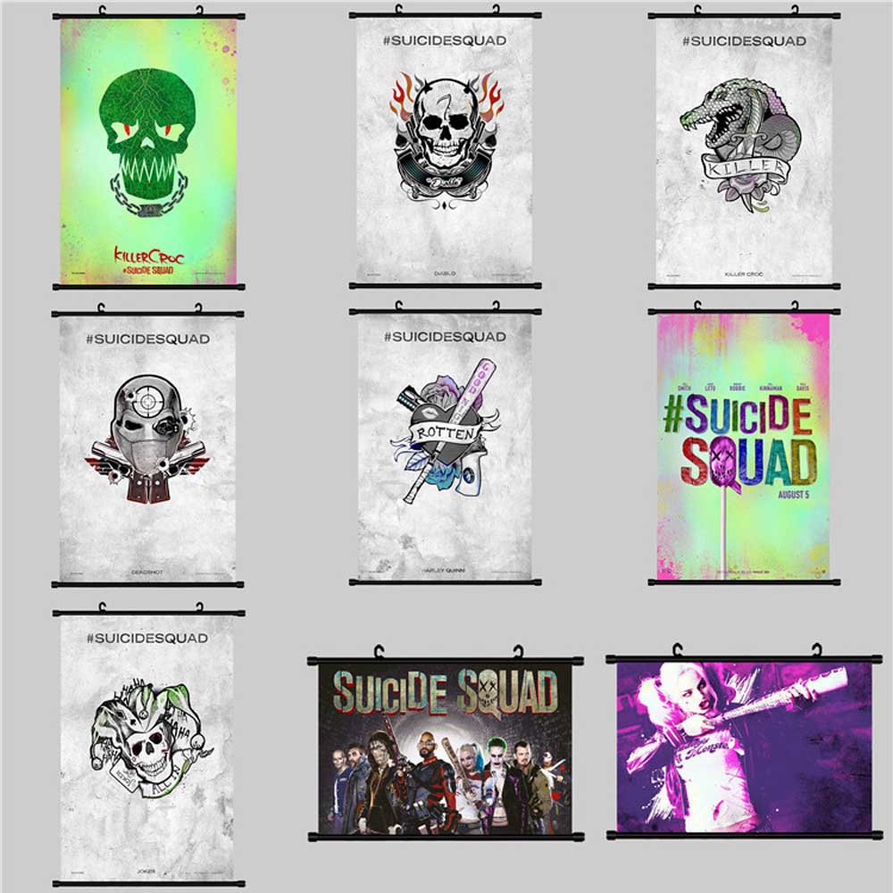Task Force X Posters And Prints Wall Art Canvas Painting Wall Pictures Art Scroll Painting Suicide Squad in Painting Calligraphy from Home Garden