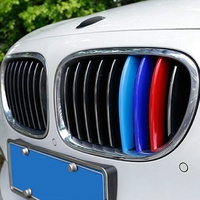 Car Styling M Power Ornaments Front Grille Trim Sport Strips Cover Stickers Accessories For BMW 7