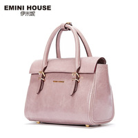 EMINI HOUSE New Design Oil Wax Genuine Leather Women Crossbody Bag Luxury Handbags Women Messenger Bags