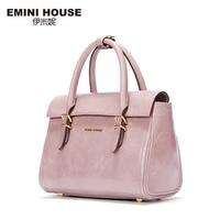 EMINI HOUSE New Design Oil Wax Genuine Leather Women Crossbody Bag Luxury Handbags Women Messenger Bags