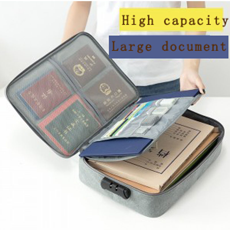 JXSLTC cationic multi-function document storage bag multi-layer large-capacity archive ticket file account <font><b>passport</b></font> sorting bag image