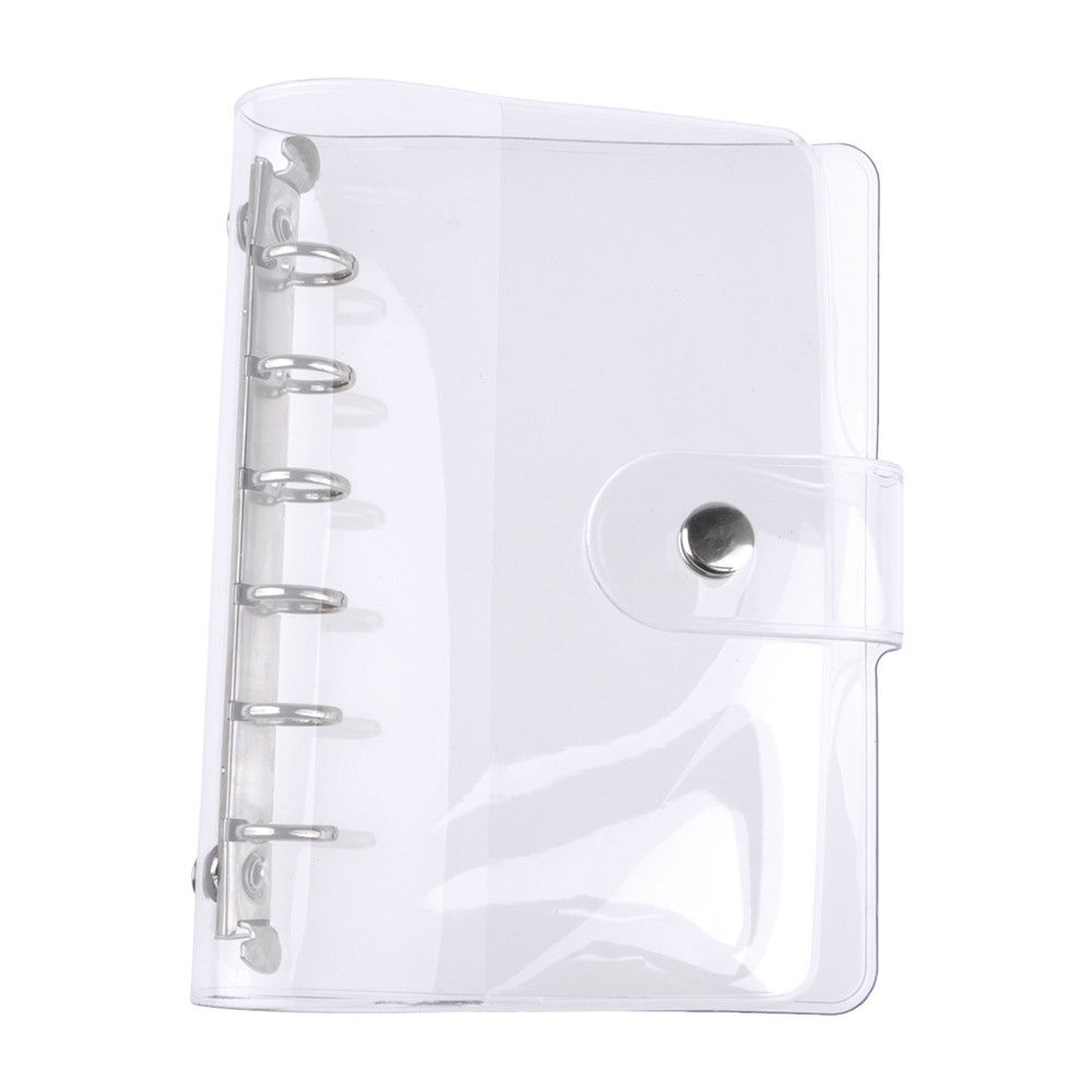 Loose Leaf Cover PVC Stationery Case Writing Book Notebook Document Partical Diary Business School Supplies Recording