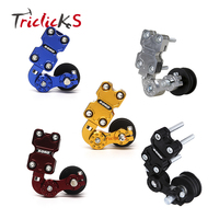 Triclicks CNC 6 Colors Aluminum Roller Chain Tensioner Adjuster Chain Sets Bolt On Roller Motorcycle Chopper