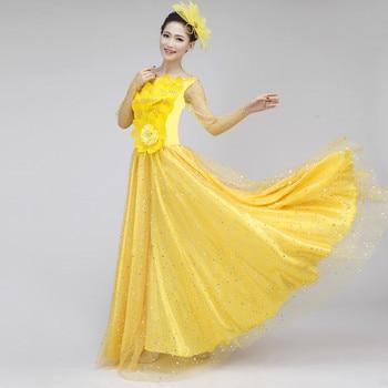 5962402c3 Traje de baile Flamenco pétalo falda española vestido Flamenco baile  flamenco con cabeza