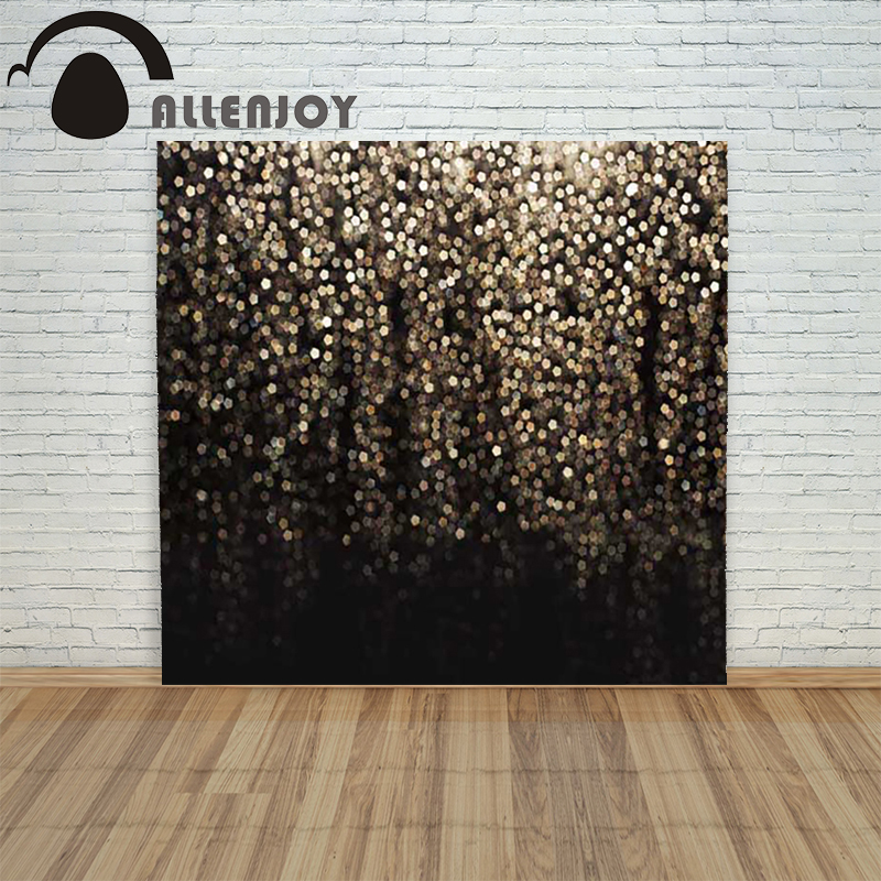 Allenjoy christmas photography backdrop Blur the golden black light children's vinyl photocall photographic festive allenjoy christmas photography backdrop wooden fireplace xmas sock gift children s photocall photographic customize festive