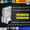 Полноценно i7 мини-компьютер 8 ГБ оперативной памяти 128 ГБ SSD пк 5Gen процессора процессор Intel i7 5500U i5 5257U 5250U видеокарта автодиафрагмой 6100 микро-hdmi HTPC