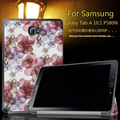 Fashion printed coloful PU Leather Folding Stand cover case For Samsung Galaxy Tab A P580 P585 P580N 10.1 inch tablet + Film+Pen