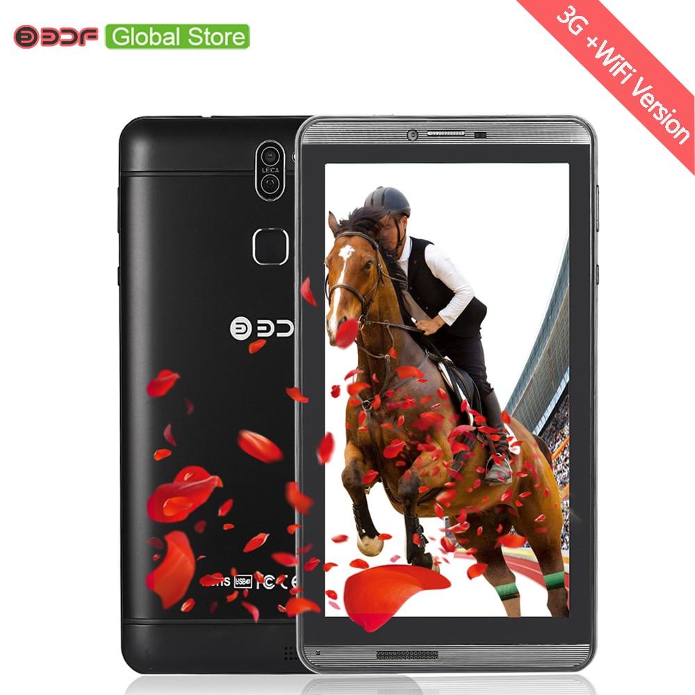7 Inch Android 6.0 Tablet Pc Phone Call 3G Sim Card Quad Core Dual Camera Tab WiFi Bluetooth 1GB+16GB Tablets