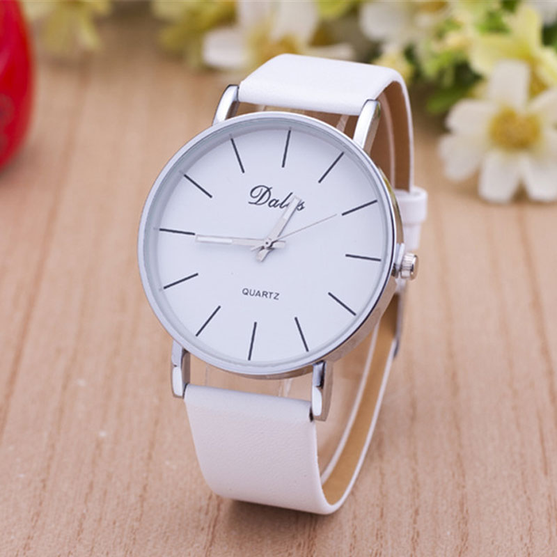 High Quality Classic Dalas Brand Leather Silver Steel Strap Watches Women Dress Watch Ladies Quartz Watch 2016 women diamond watches steel band vintage bracelet watch high quality ladies quartz watch