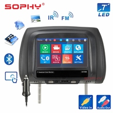 Nieuw! 7 inch Auto Scherm Hoofdsteun Monitor Pillow Monitor Bluetooth MP4 MP5 Touch Screen Panel SH7068 P5