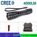 Z30 led фонарик T6 4000 люмен фонарик CREE регулируемый освещение для ААА и 4200 мАч 18650 батарея аккумуляторная факел подарок коробка