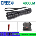 z30 led flashlight T6 4000 lumens torch CREE adjustable lighting  for AAA and 4200mAh 18650 battery rechargeable torch gift box