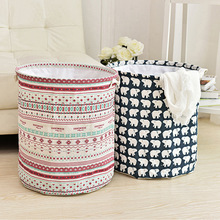 Home collecting basket,folding waterproof laundry basket,dirty clothes basket,cotton and linen,dirty basket, toy barrel